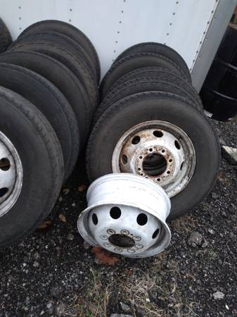 Photo Ford 16quot dually spare tire with rim $100 each - $100