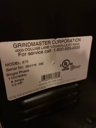 Photo Grind master commercial coffee grinder - $600 (Mansfield)