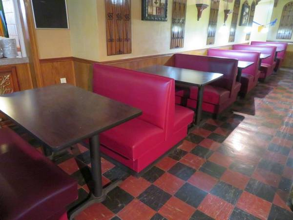 Photo Restaurant Booths, 5 complete 46quot sets w tables, Used - $1,500 (Akron)