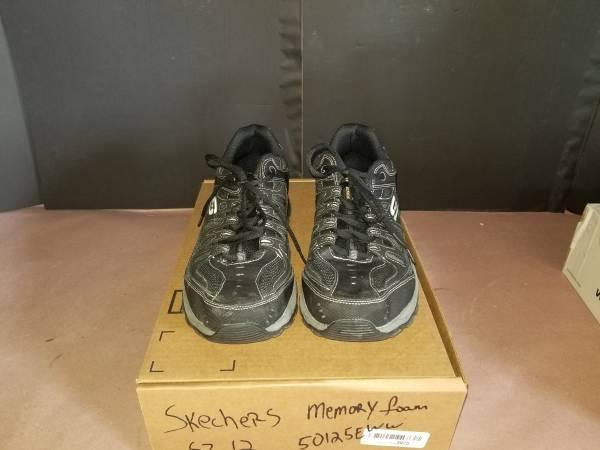 Photo Skechers Men39s Running Shoes Afterburn Memory Foam Leather US sz 12 - $50 (shelby)