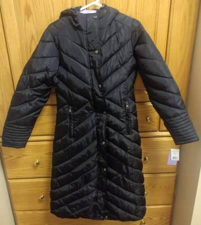 Photo Women39s Medium Madden Girl Long Maxi Puffer Hooded Winter Coat - $40 (Bellville)