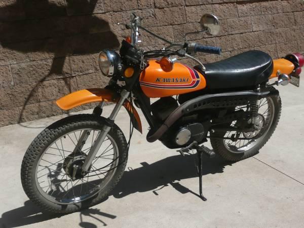 Photo 1973 Kawasaki 100cc enduro dirt kids play motorcycle bike - $1,100 (Frederic, WI)