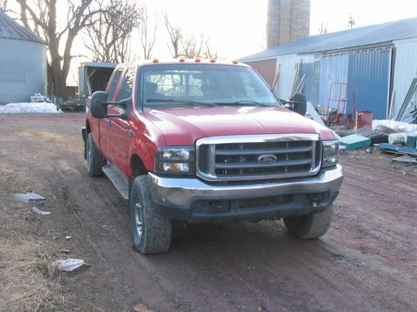 Photo 2000 F350 Ford Super Duty 7.3 Powerstroke Crew Cab Long Bed - $9,000 (Heron Lake)