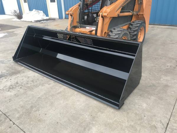 Photo 839 SNOW BUCKET with SKID STEER MOUNT - $1,250 (Sanborn)