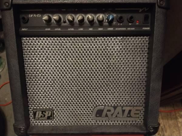 Photo Crate GFX-15 Guitar Amp 15 Watts wDSP Effects - $50 (StPaul)