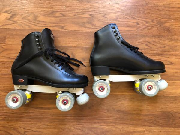 Photo Reidell Roller Skates with Roll-Line plates, mens size 8 - $350 (Brooklyn Park)