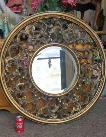 Photo Round Beveled Mirror 36quot - $59 (St Peter MN downtown on hwy 169)