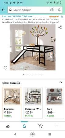 Photo Twin loft bed with slide - $150 (Worthington)