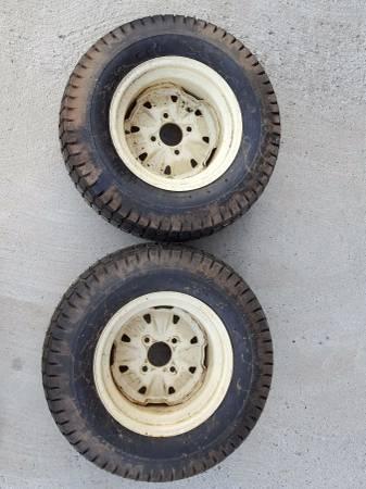 23x9 50 12 Garden Tractor Lawnmower Tires And Wheels Deere Cub