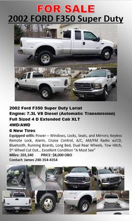 Photo Ford F350 Dually - $8000 (Martinsburg)