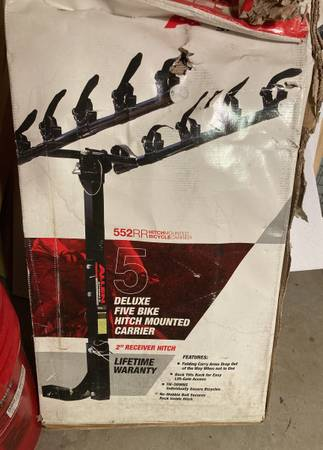 Photo NEW Allen sports deluxe five bike 2 inch receiver hitch mounted carrier - $200 (Martinsburg)