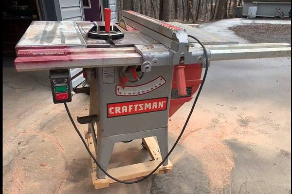 Photo Table saw, Craftsman, 10 inch - $175 (HEDGESVILLE, WV)