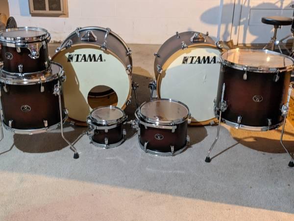 Photo Tama Silverstar birch double bass 7-piece drum kit (shells only) (Martinsburg)
