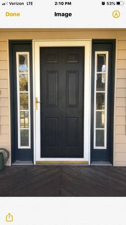 Photo 36 inch exterior door with two sidelights - $500 (Roland)