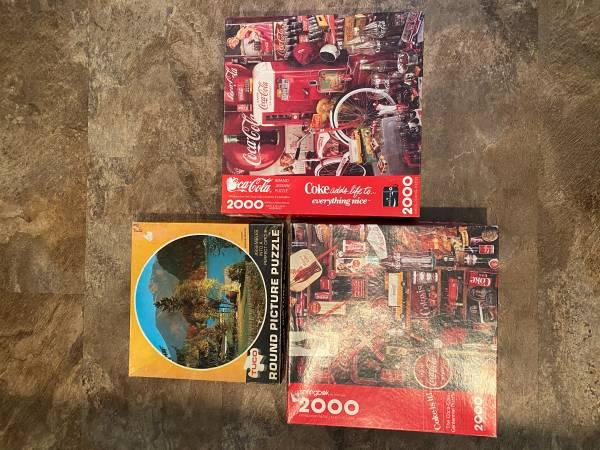 Photo 3 Jigsaw Puzzles-Springbok Coca Cola (2) and TUCO Round Picture - $7 (Mason City, Iowa)