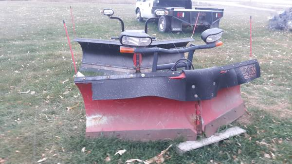 Photo 8 FT 2 V Snow Plow Blade Boss complete - $3,850 (NW IOW A)