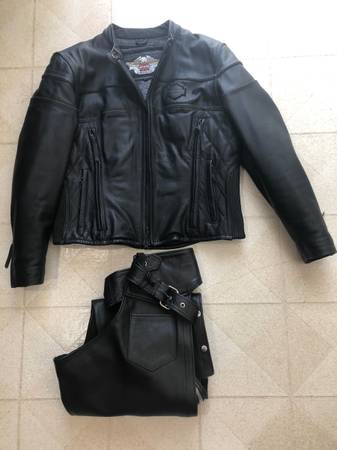 Photo Harley Davidson Women39s Armored Leather Jacket and Chaps - $290 (Racine, MN)