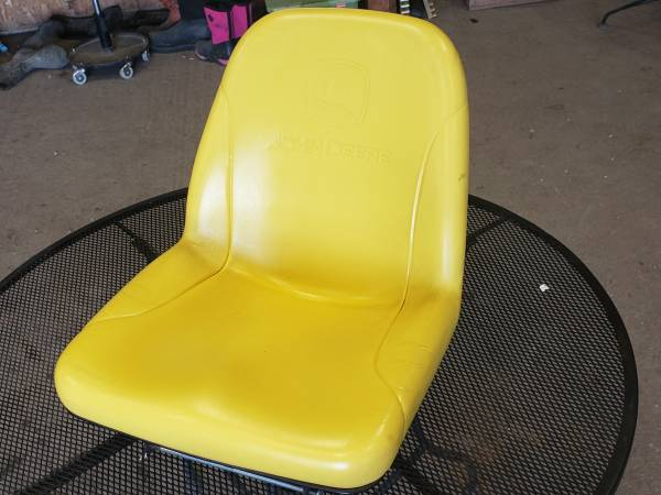 Photo John Deere Lawn Mower Seat - $150 (Whittemore)