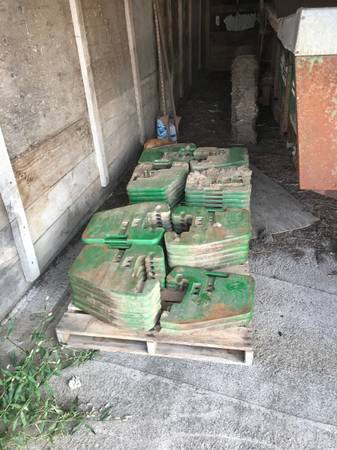 Photo John Deere suitcase weights - $80 (Northwood IA)
