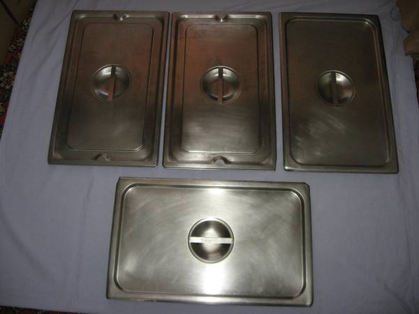 Photo STEAM TABLE PAN LID Full Size Stainless Steel - $10 (Mankato)