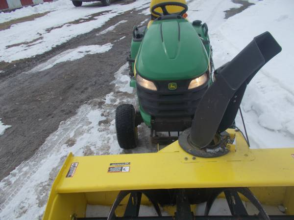 Photo x540 john deere riding lawn mower with snow blower - $3900