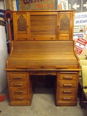 Antique Roll Top Desk 850 Mattoon Furniture For Sale