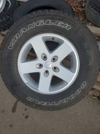 Photo Goodyear wrangler jeep tires - $300 (Newton)
