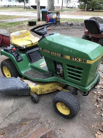 Photo SOLD John Deere STX38 Lawn Tractor - $325 (Ivesdale)