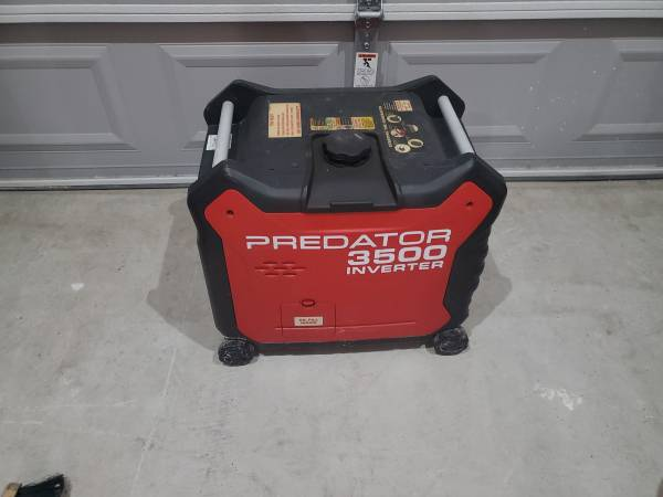 Photo 3500 watt Predator generator very quiet - $400 (Edinburg)
