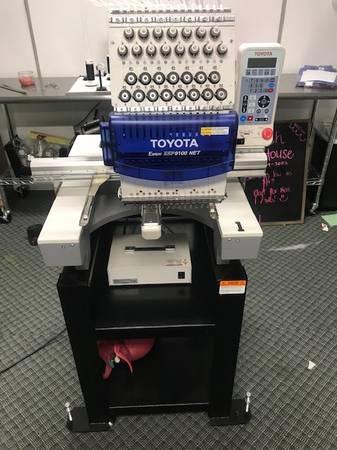 Photo TOYOTA Embroidery Machine ESP9100NET 15 Needle w270 cap SPECIAL 8 Taj - $7,500 (Edinburg)