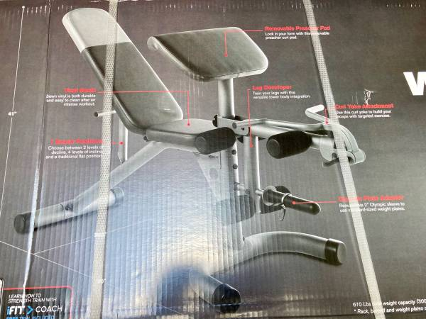 Photo Weider Olympic Workout Bench - $165 (Mission)