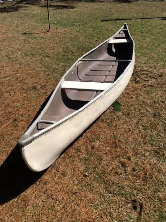 Canoe. (16 foot) fiberglass - $275 (Greenville Pa) | Boats For