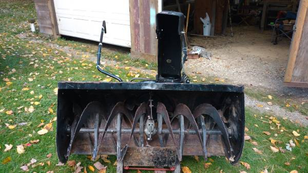 Photo Craftsman 45quot snow blower attachment for older Craftsman yard tractors - $275 (Tionesta, Pa)