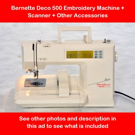 Photo Bernette Deco 500 Embroidery Machine  Scanner and More  - $287 (North Ridgeville - 9-Minutes West of Great Northern Mall)