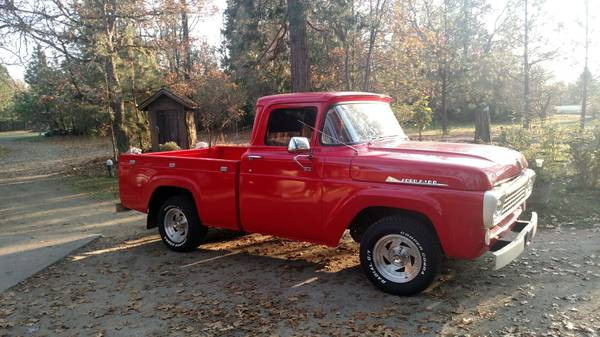 Photo 1958 Ford F100 (factory stock) - $11,000 (Grants pass)