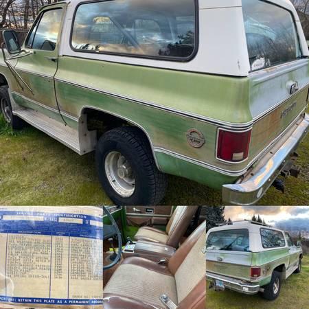 Photo 1976 Blazer K5 Cheyenne 4x4 Loaded,Wood Grain Exterior - $5800 (Medford)