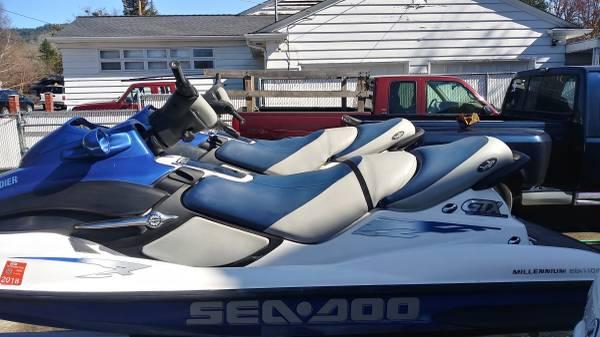 Photo 2. seadoos and trailer - $4500 (Grants pass)