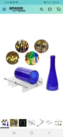Photo Glass crafts, cobalt blue - $30 (Medford)