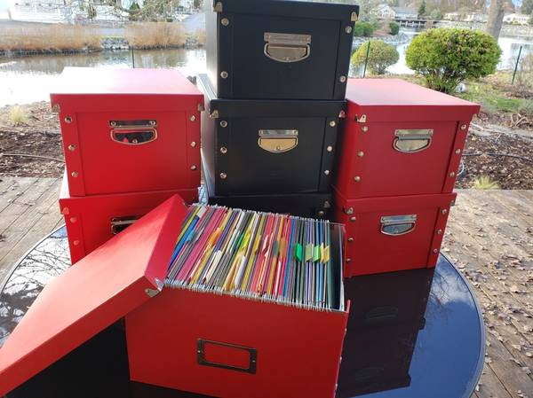 Photo LOT 8 Letter Size Snap-N-Store File Boxes Black and Red Heavy Duty - $75 (Grants Pass)