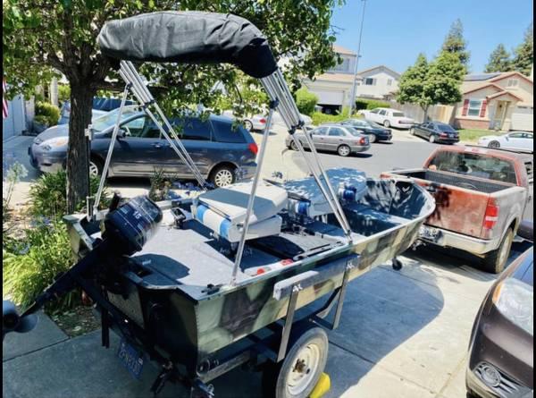 Photo READY TO FISH 14 aluminum mirrocraft Jon boat - $3,200