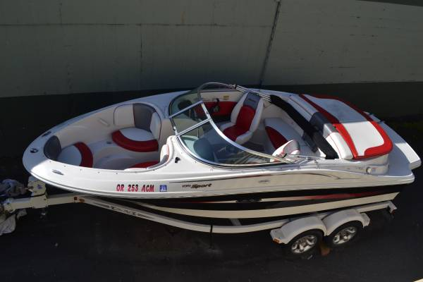 Photo (SOLD $17,000)2006 Sea Ray 195 Sport - Bowrider Deck Boat WITH Trailer (GRANTS PASS)