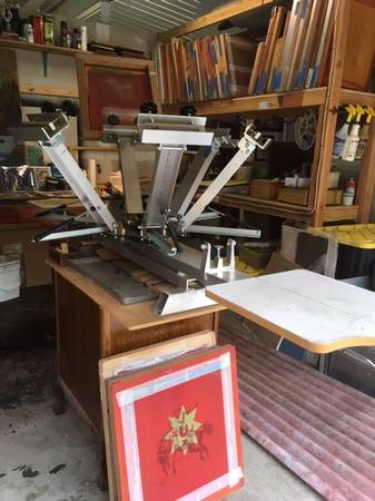 Photo Screen Printing Press and Flash Dryer - $500 (Central Point)
