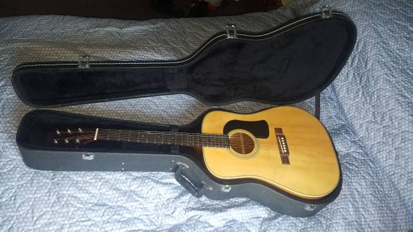 Photo WASHBURN D-10 ACOUSTIC GUITAR and LOCKING HARD SHELL CASE - $350 (GRANTS PASS)