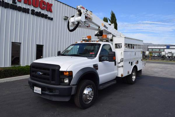 Photo 2009 Ford F550 Altec AT37-G 4239 Bucket Truck (Call Us Today For An Instant Quote)