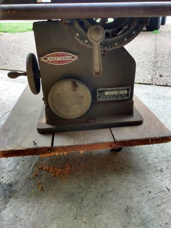 Photo Antique Craftsman Table Saw - $250 (BARTLETT TN)