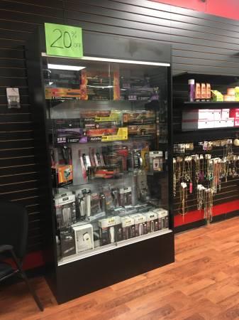 Photo Glass showcase cabinet - $175 (Olive Branch)
