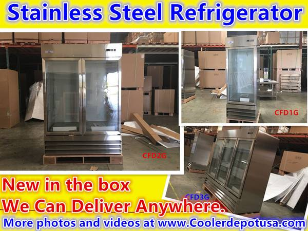 Photo NSF One  Two  Three-door Glass Refrigerator (Restaurant Equipment) - $1,450 (100 new)