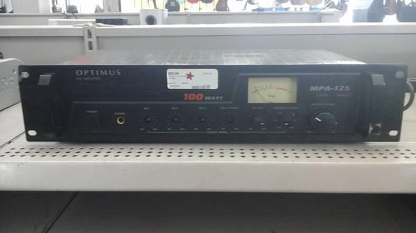 Photo Optimus MPA-125 P.A. Amplifier - $50 (3202 Jackson Ave)