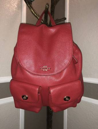 Photo Red Coach Backpack - $125