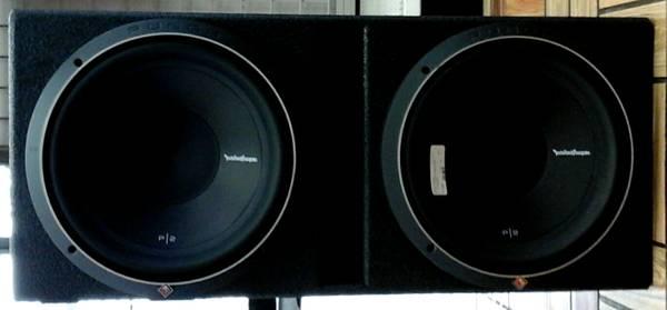 Photo Rockford Fosgate p2 12 inch Speakers - $399 (Bestpawn)